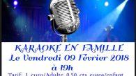 Karaoké en famille – Le Vendredi 09 Février 2018 à 19h