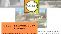 Partenaires, bénévoles et adhérents, le Centre Social Ouest vous convie le jeudi 11 avril 2019 à 18 h 00 à son assemblée générale à l'Atelier.      […]